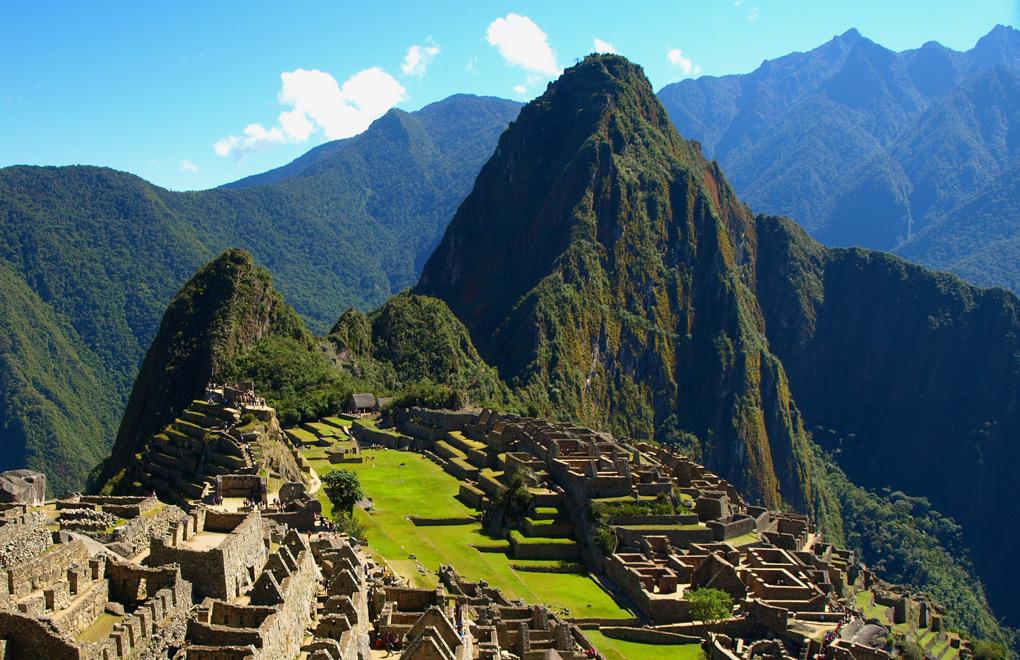Overlooking majestic Machu Picchu