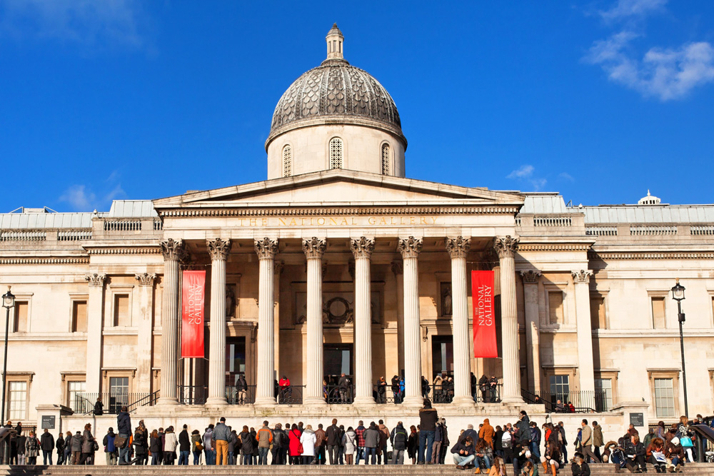 National Gallery of Art in Trafalgar Square, London, England, UK
