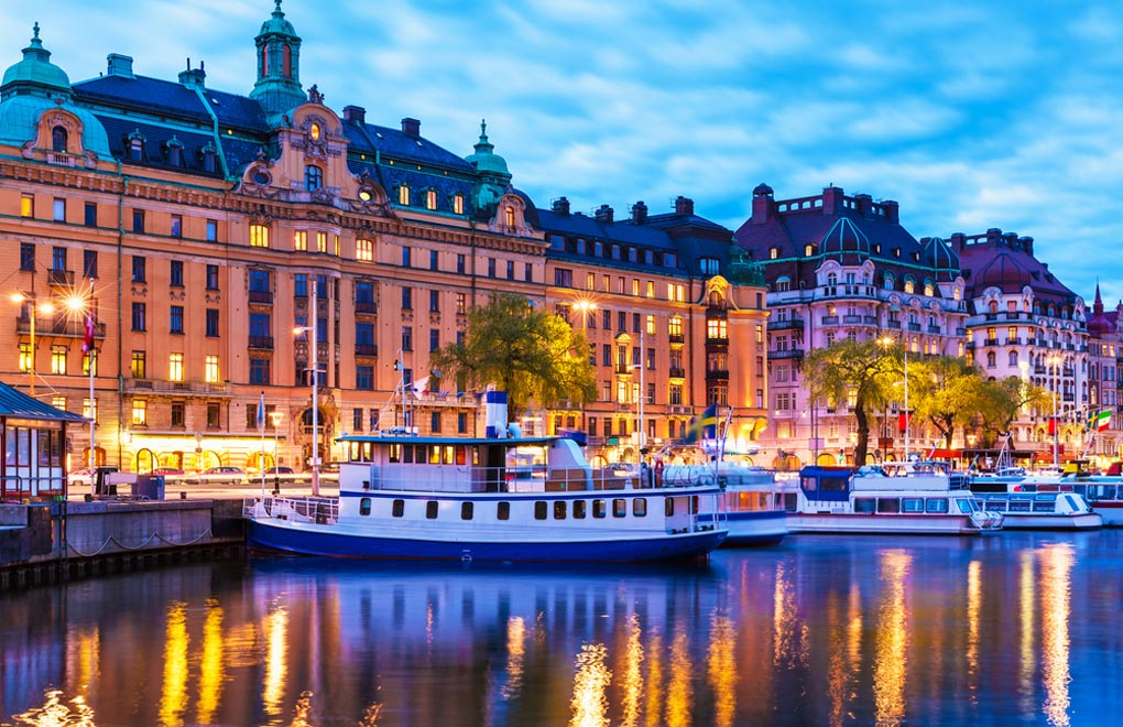 Old Town Gamla Stan architecture pier in Stockholm and a must visit for any Sweden vacation.