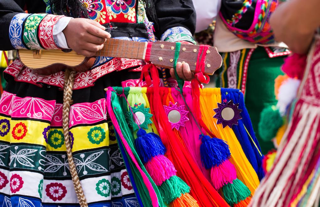 Peruvian Dancers, Cusco.