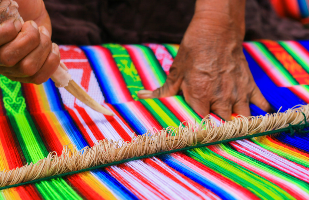 Peruvian Cloth Weaving.