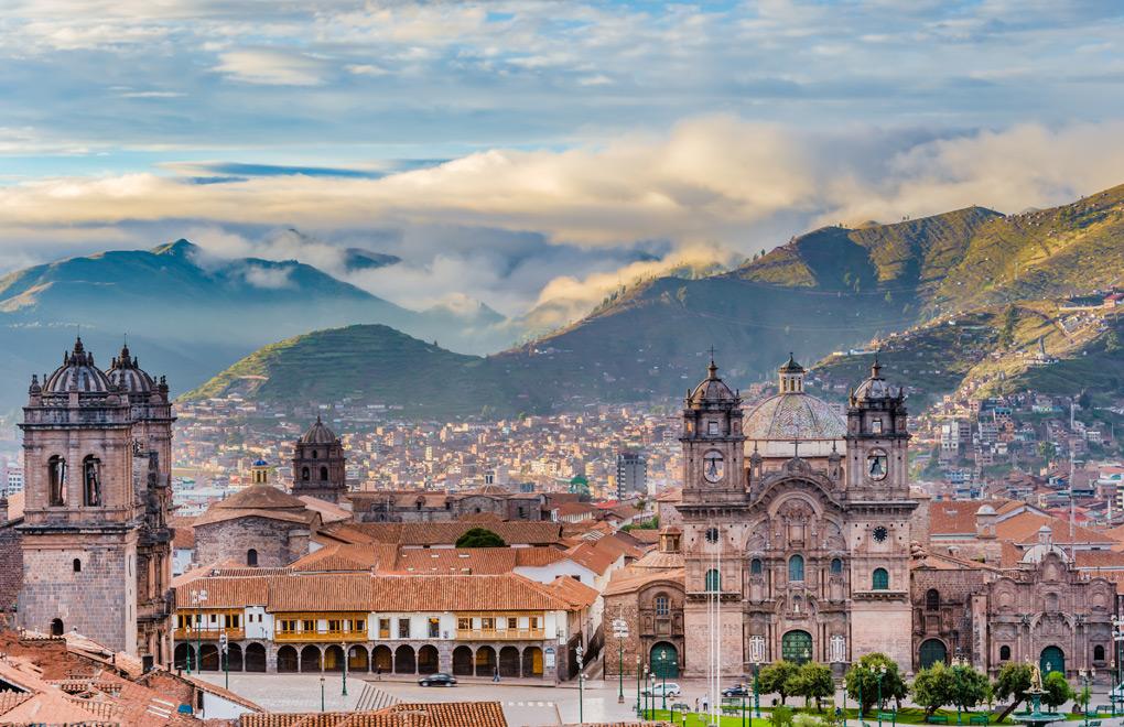 Plaza de armas, Cusco, City.