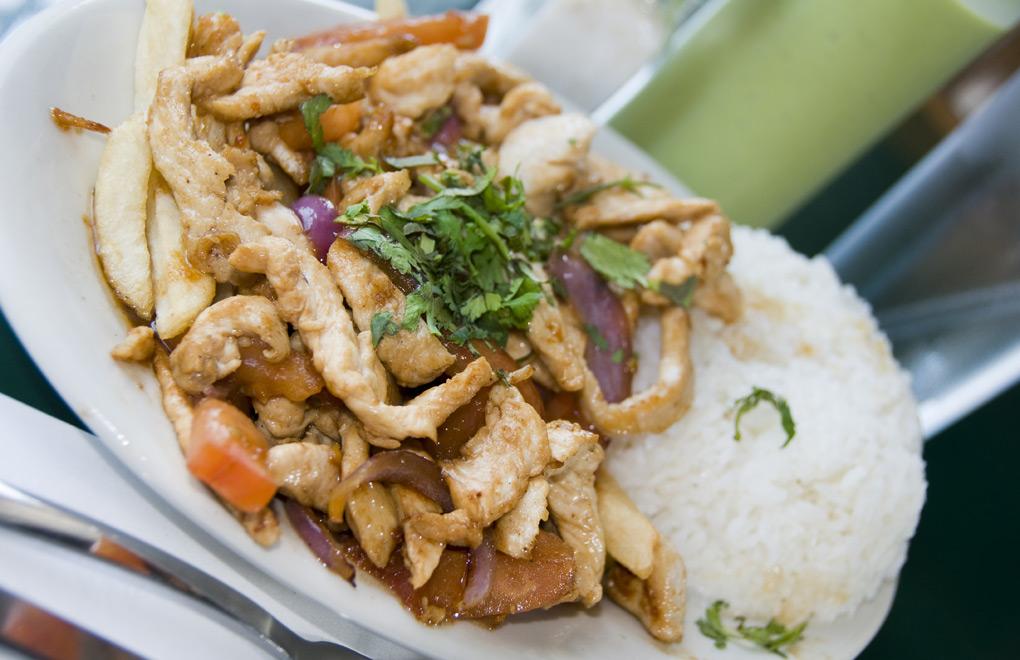 Pollo Chicken and Pisco Sour, Lima.