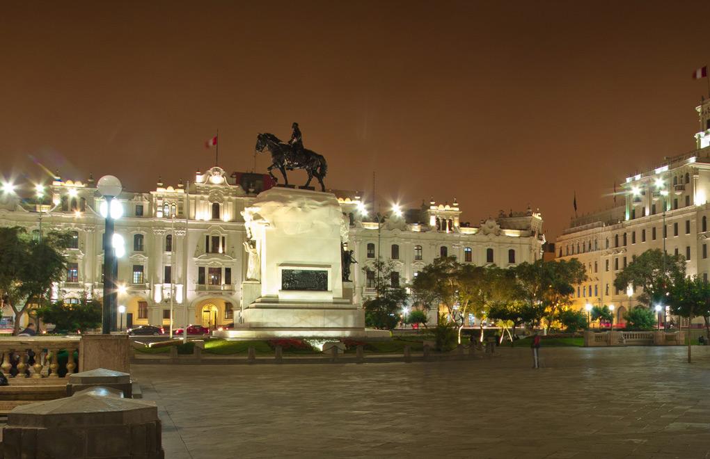 San Martin Square, Lima.