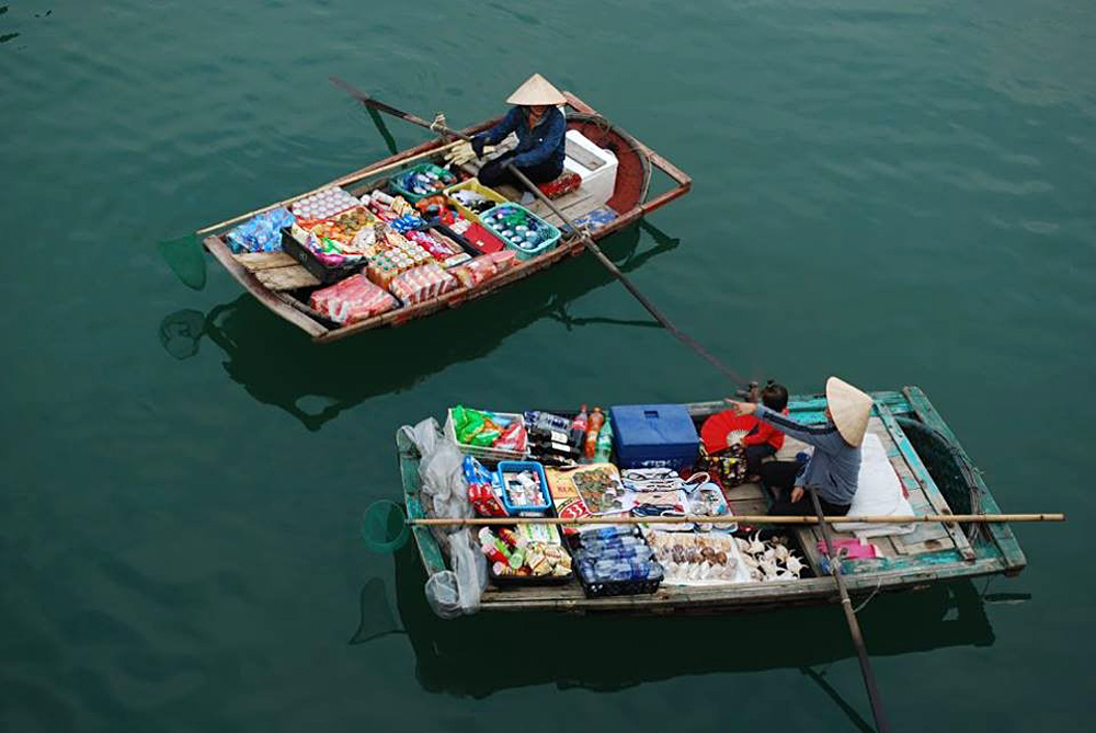 Soran Prasad - Floating Market Vendors in Halong, Vietnam
