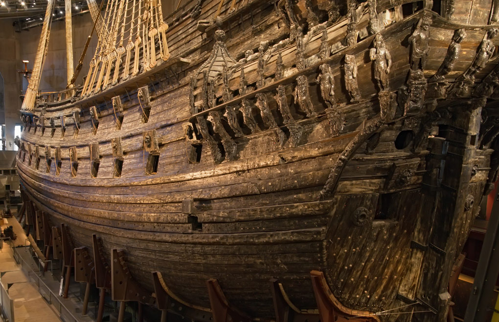 Swedish Vasa warship that was built from 1626 to 1628.