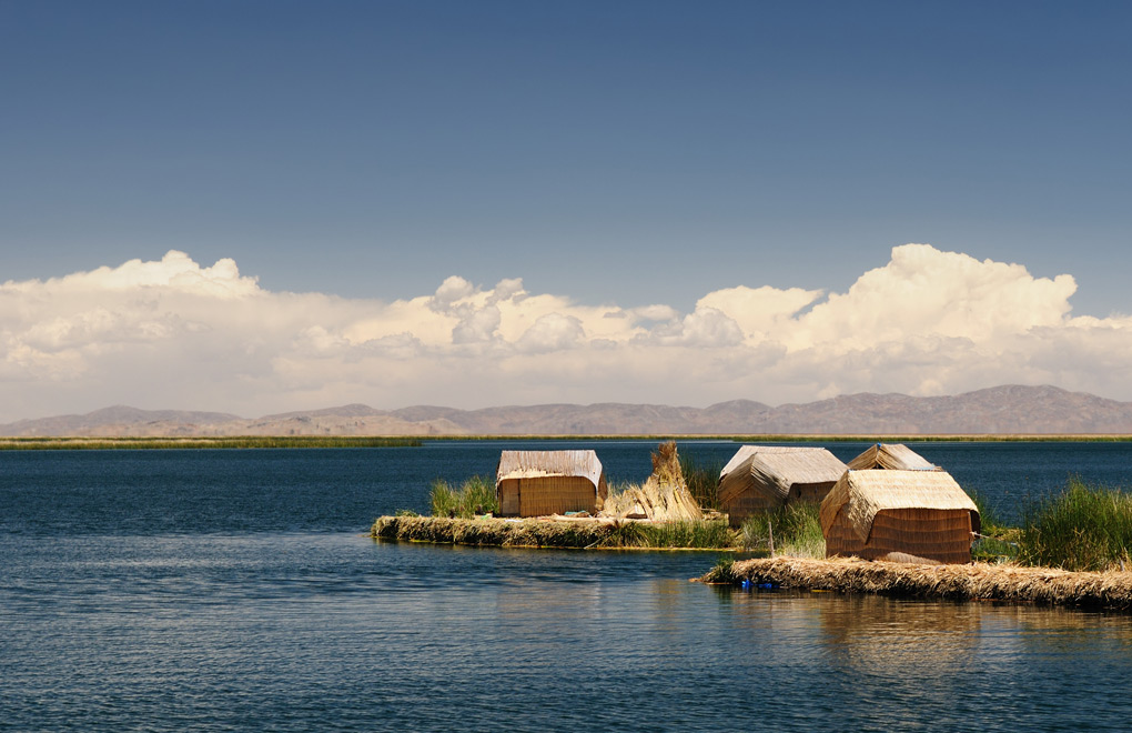 Uris Islands on Titicaca lake.