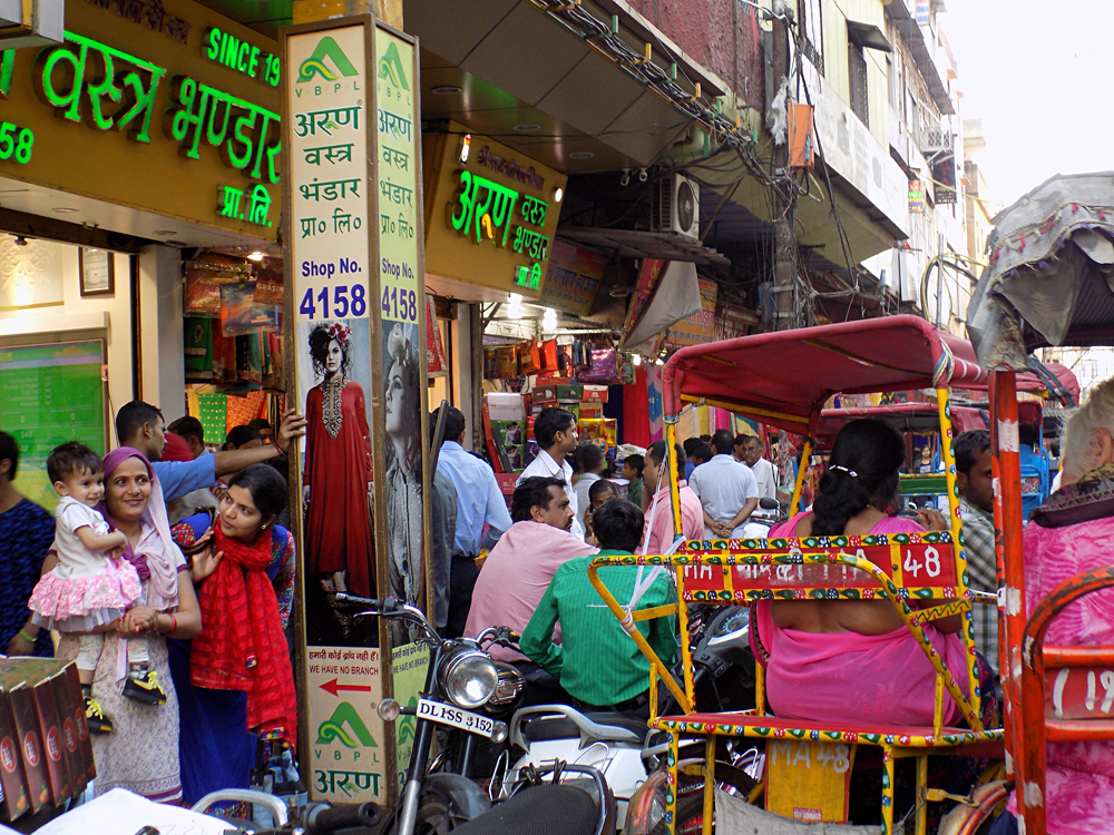Anthony Saba - Busy and Colourful Streets of Chandni Chowk in Delhi, India