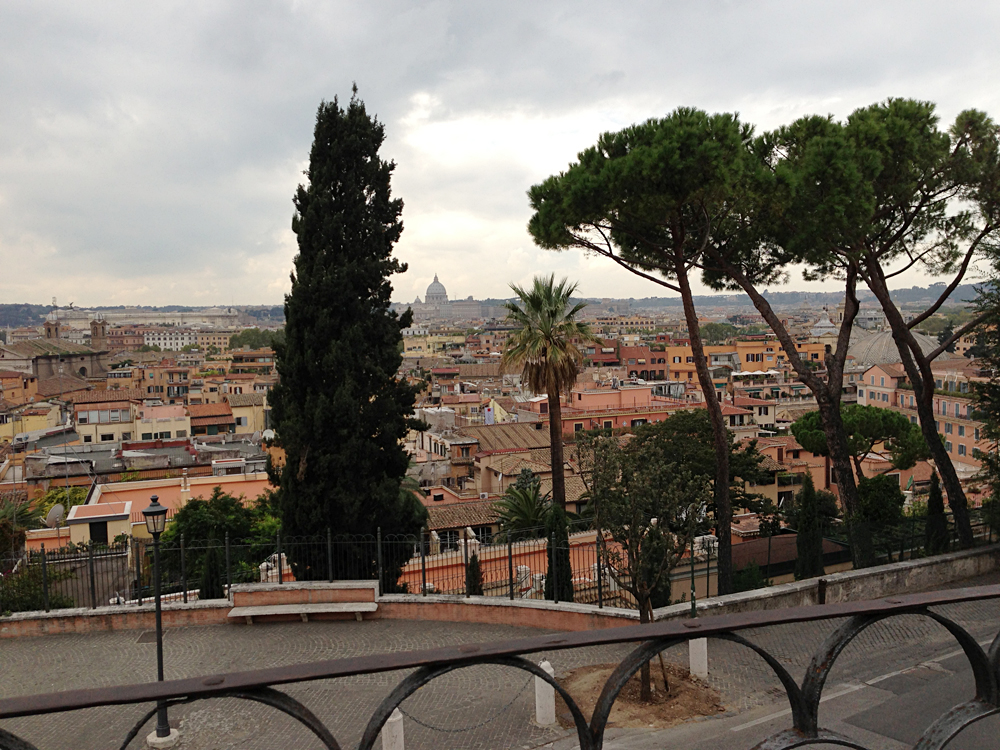 Bob - View from Villa Borghese, Rome, Italy
