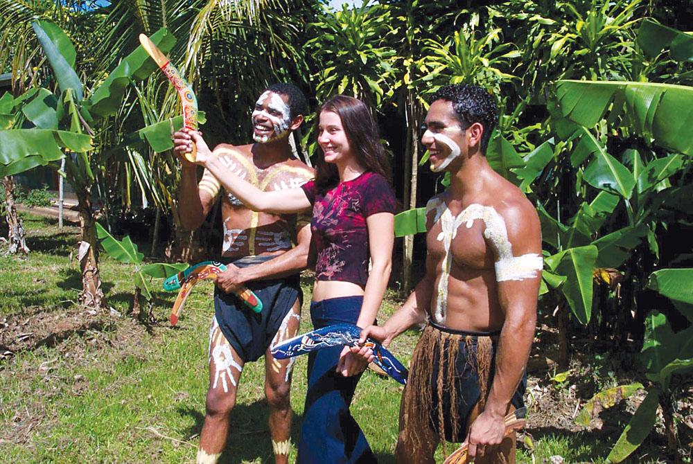 Boomerang Throwing with Aboriginals, Australia