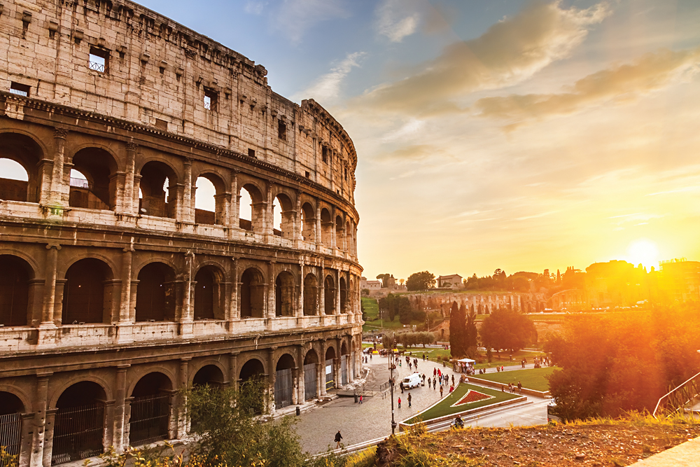 Coliseum at Sunset, Rome, Italy