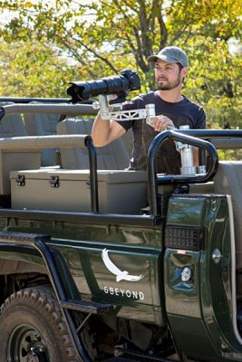 Ngala Safari Lodge Specialist Photographic Vehicle with Featured Photographic Arms, South Africa