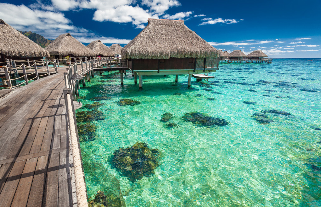 Overwater Bungalows in Moorea.