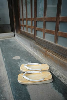 A Pair of Slippers Outside a Home in Japan