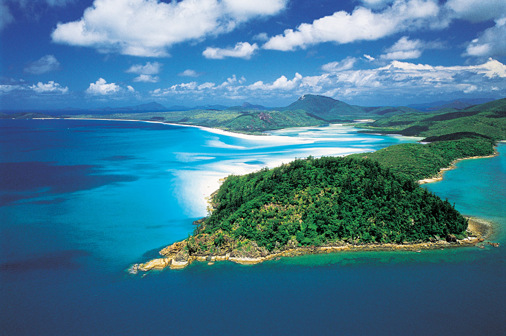Aerial View of Whitehaven Beach, Whitsunday Island, Queensland, Australia