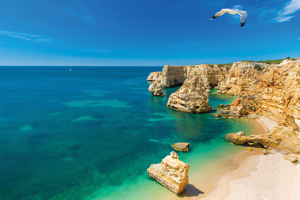 Beautiful Beach in the Algarve, Portugal