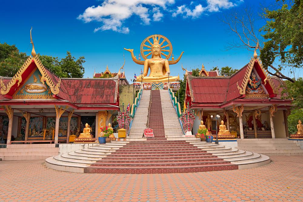 Big Buddha statue in Wat Phra Yai Temple, Koh Samui, Thailand