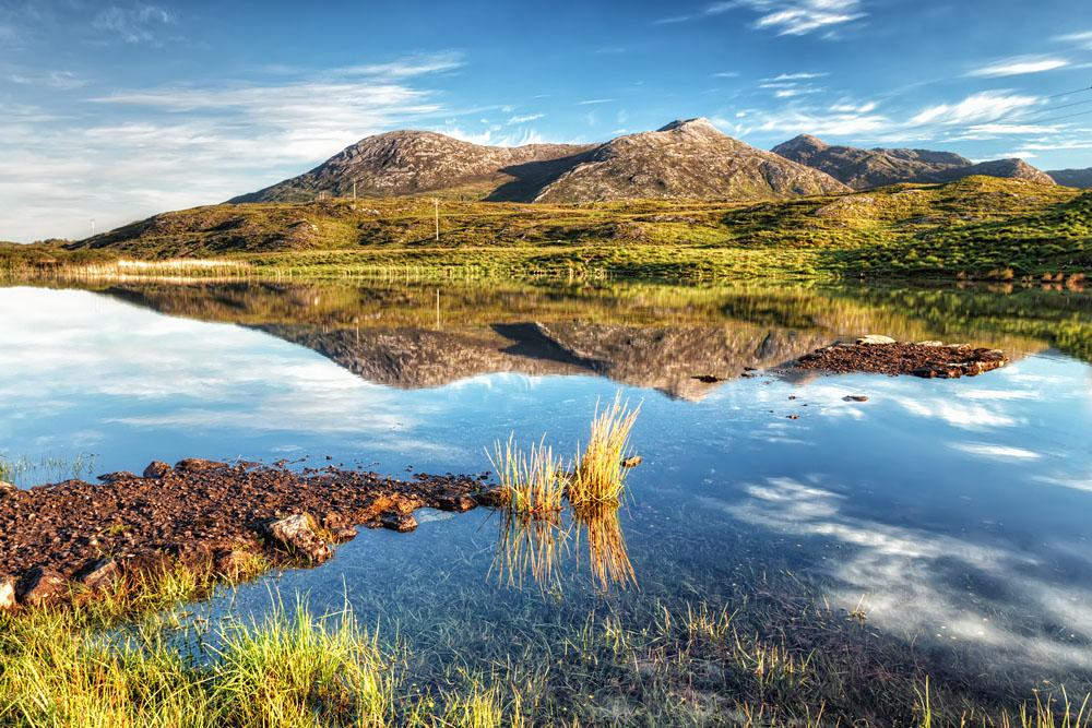 Breathtaking natural landscape of Connemara mountains, Ireland
