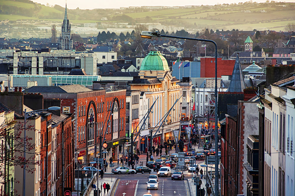 City centre in Cork, Ireland