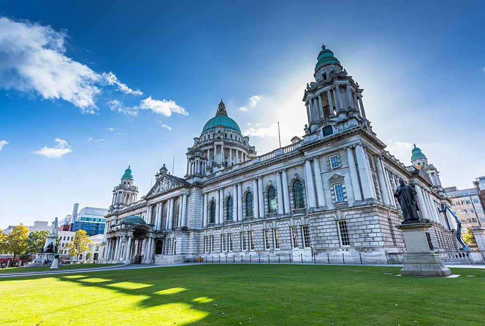 City Hall of Belfast. Northern Ireland, UK