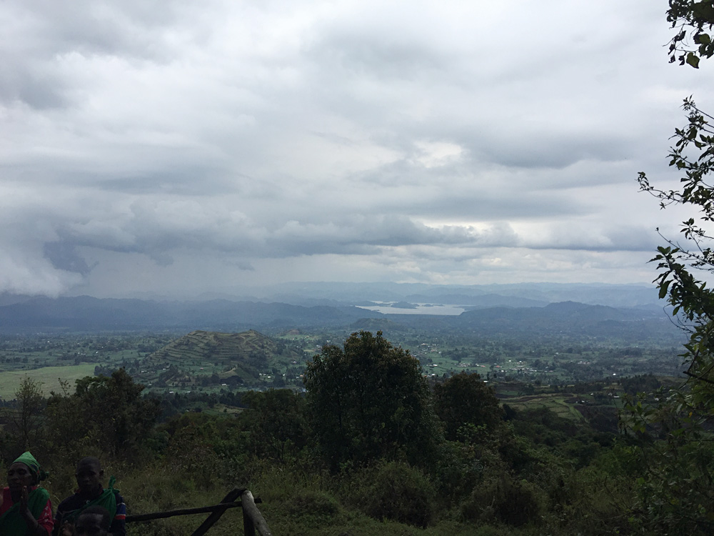 David Zolis - Looking out towards Kisoro, with the Democratic Republic of Congo off in the distance, Uganda