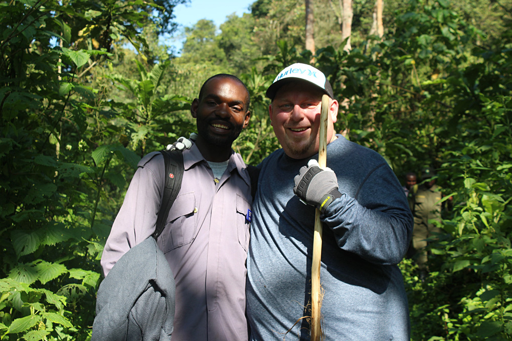 David Zolis - David and Ben embarking on their gorilla trek, Bwindi Impenetrable Forest, Uganda