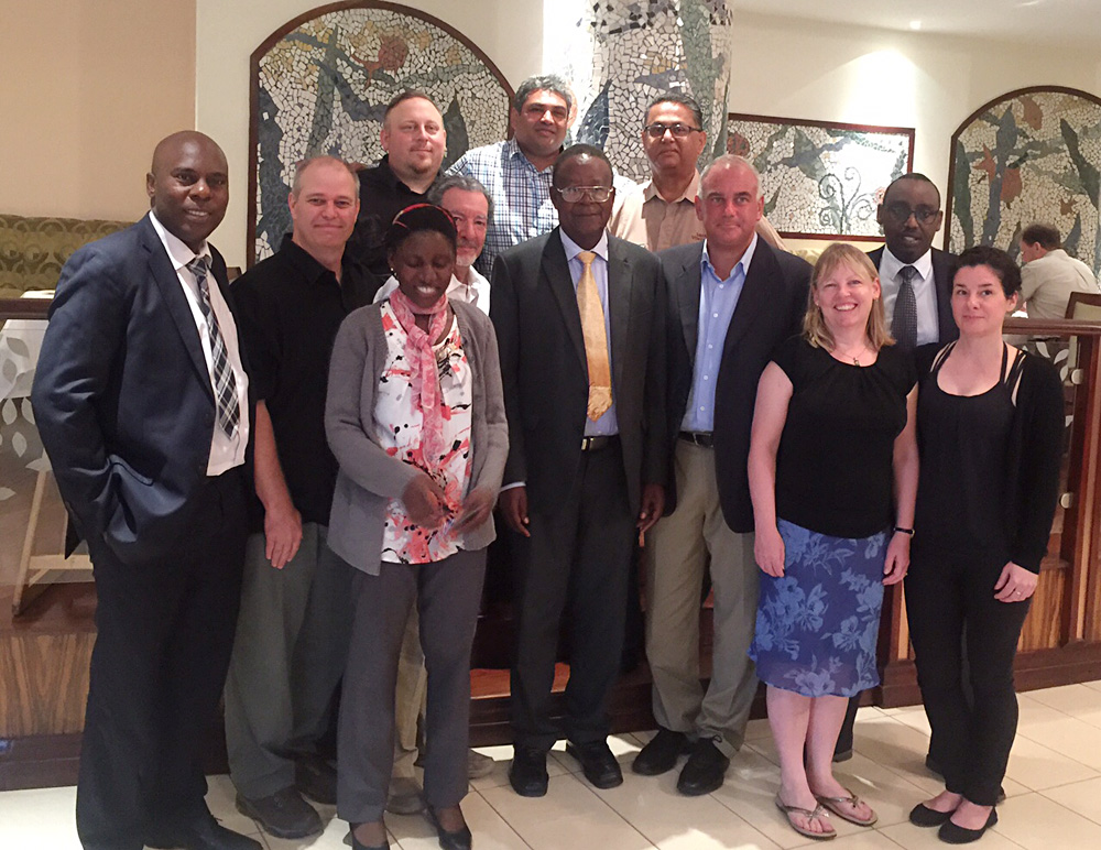 David Zolis - Our tour group with the Uganda Minister of Tourism at the Serena Kampala, Uganda