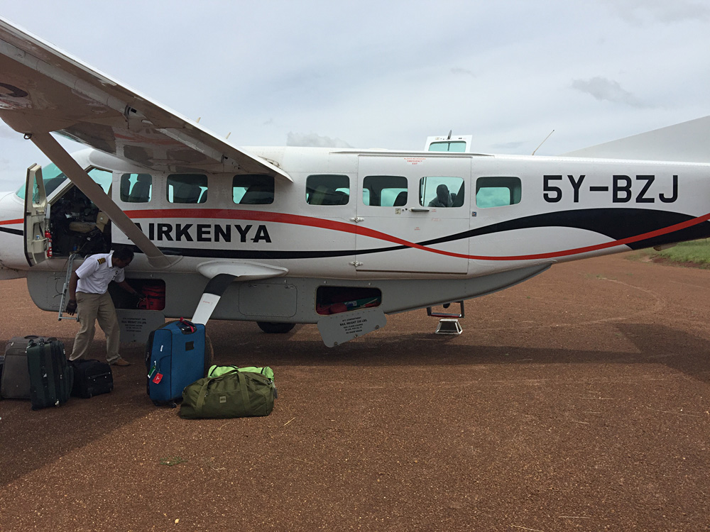 David Zolis - Ready to board our Aerolink Air Kenya flight from Mweya to Pakuba in Western Uganda