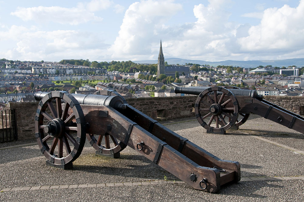 View from the walled city of Derry, Northern Ireland