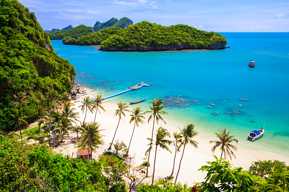 View of Angthong National Marine Park, Koh Samui, Thailand