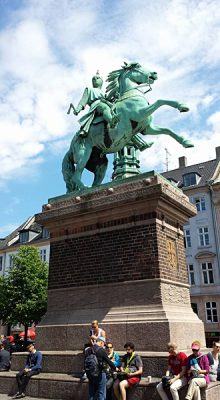 Christian Baines - Statue of Absalon Riding His Horse, Located at Hojbro Plads Square, Copenhagen, Denmark