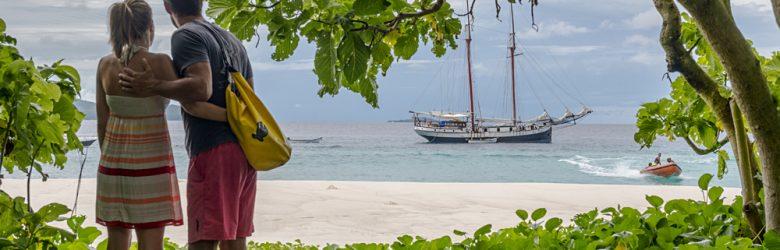 Couple on Aride Island, Seychelles