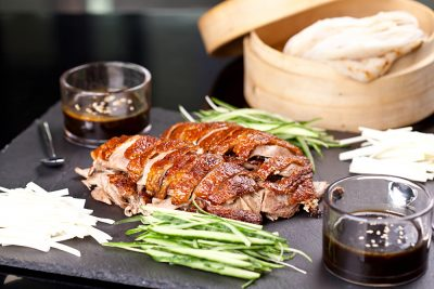 Peking duck dinner in Beijing, China