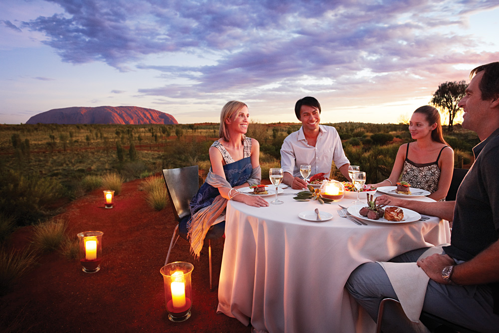 Sounds of Silence Dinner at Ayers Rock (Uluru), Australia