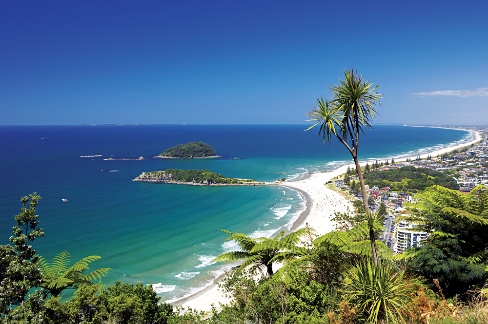 Beach at Mount Maunganui, Bay of Plenty. New Zealand