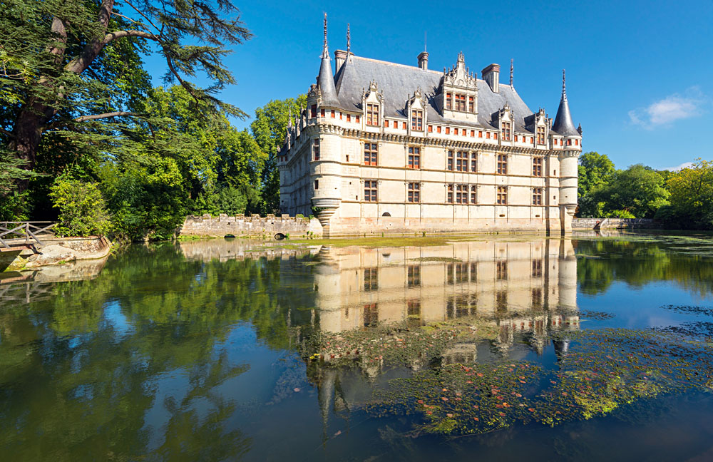 Chateau de Azay-le-Rideau in the Loire Valley, France