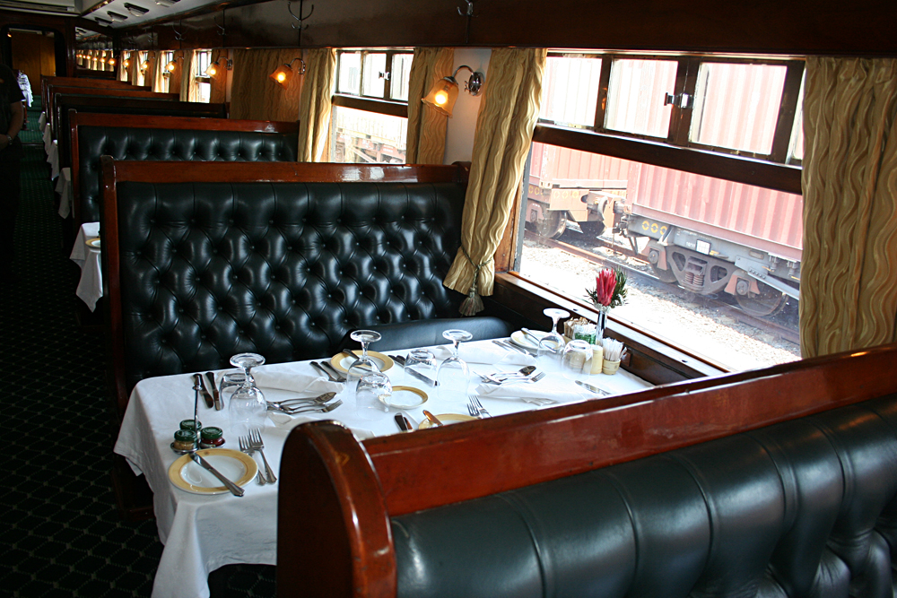 Dining Carriage on Shongololo Express, Africa