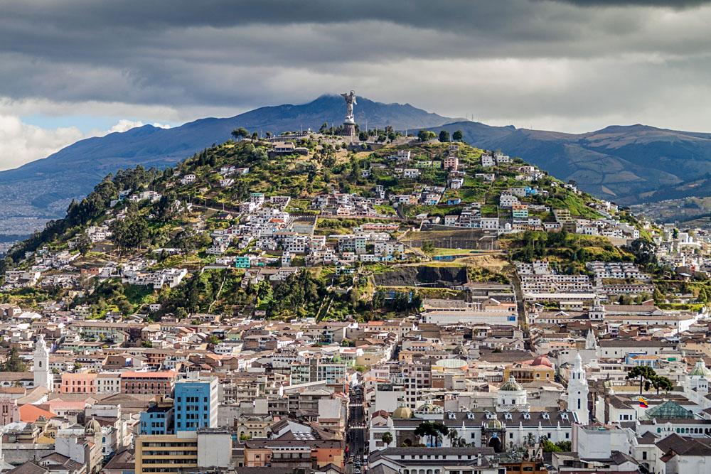 El Panecillo Hill in Quito, Ecuador