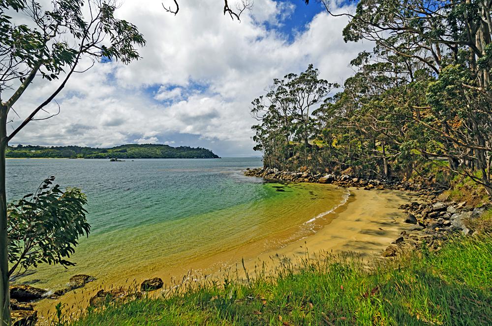 Ocean Beach Near Half Moon Bay on Stewart Island, South Island, New Zealand
