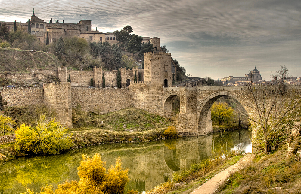 Puente de San Martín (St Martins Bridge) Over the Tagus River, Toledo, Spain