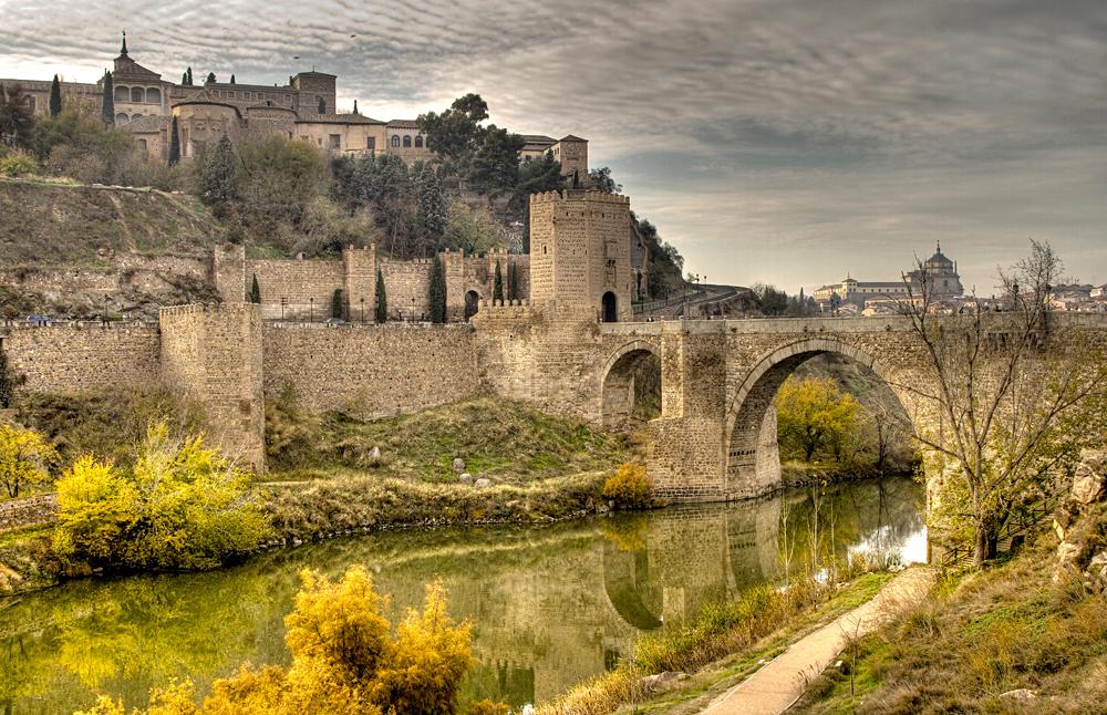 Puente de San Martín (St Martins Bridge) Over the Tagus River, Toledo, Spain