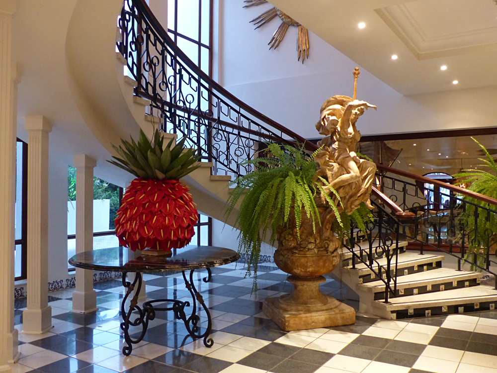 Raewyn Reid - Lobby at the Oyster Box Hotel, Durban, South Africa
