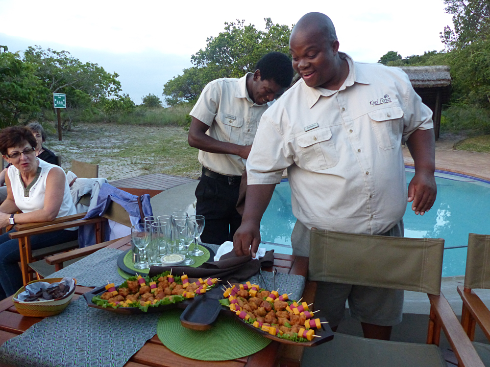 Raewyn Reid - Lodge Manager, Blessing, Overseeing Our Sundowner Experience, Kosi Forest Lodge, Isimangaliso Wetland Park, South Africa