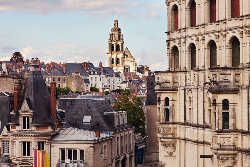 Saint-Louis Cathedral in Blois in Loire Valley, France