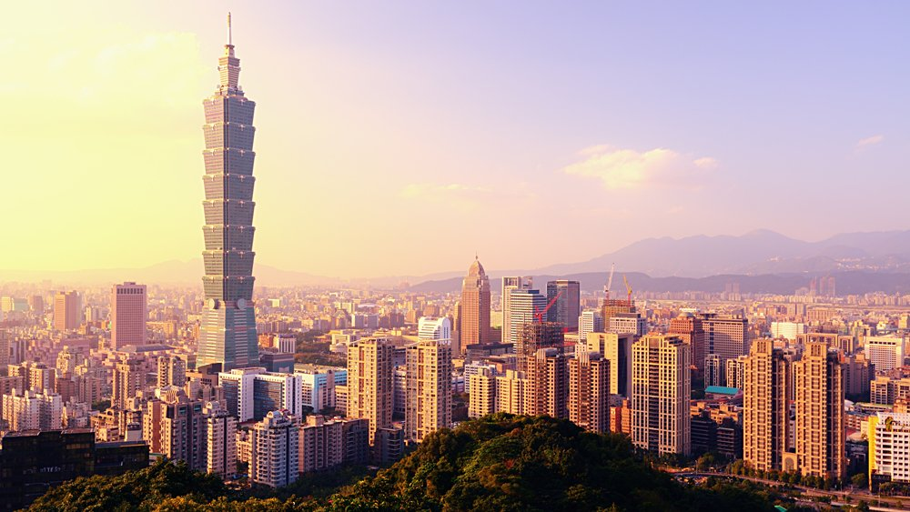Taipei Evening Skyline, Taiwan
