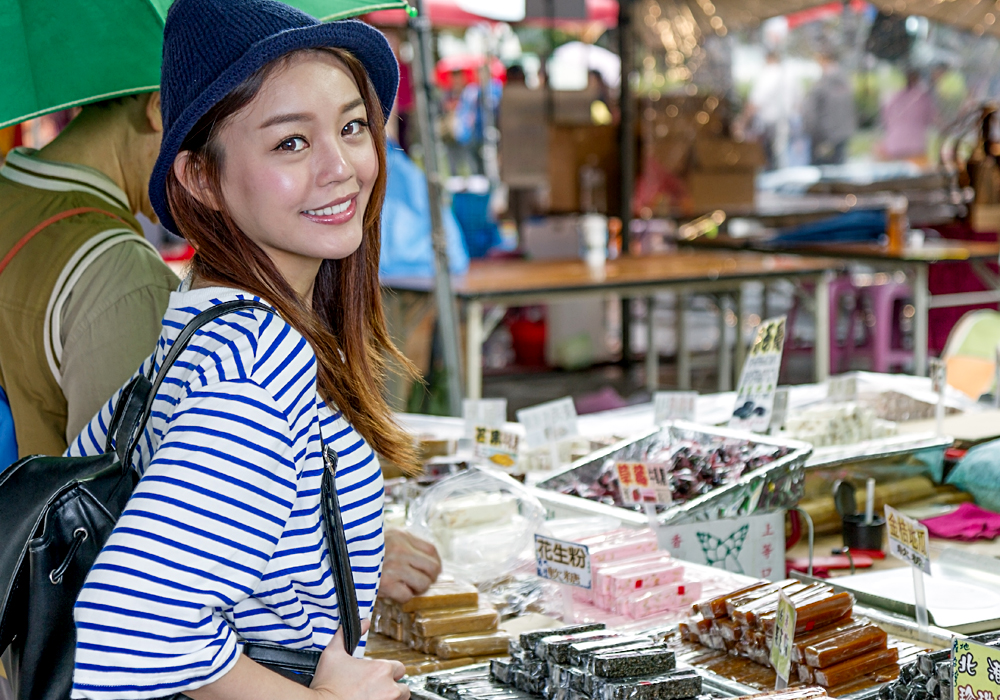 Young Woman in Taiwan Market