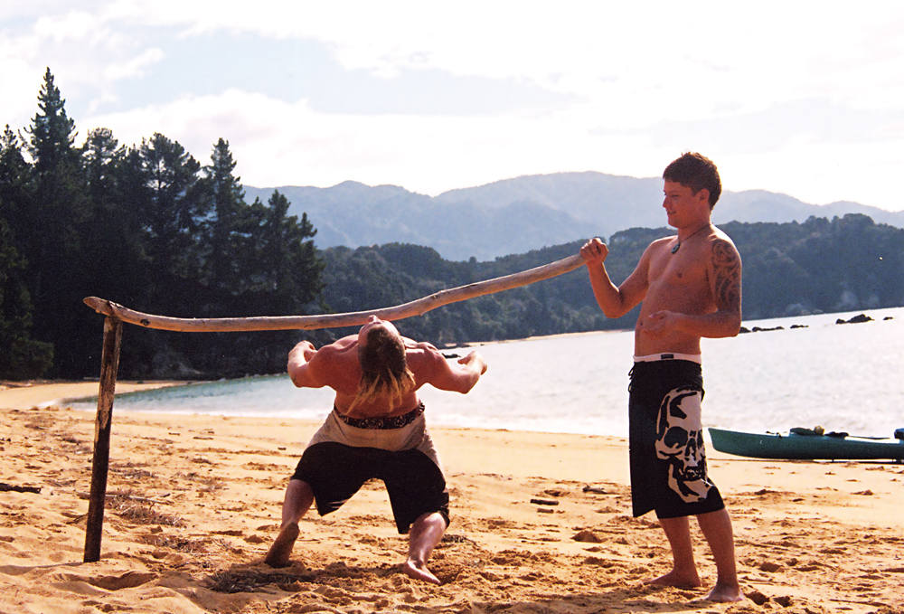 Beach Limbo in the Bay of Islands, New Zealand