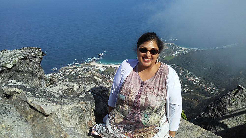 Bijal Kana - Bijal at the Top of Table Mountain in Cape Town, South Africa