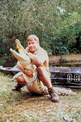 Crocodile Hunter, Steve Irwin at Beerwah Zoo (now Australia Zoo), Australia