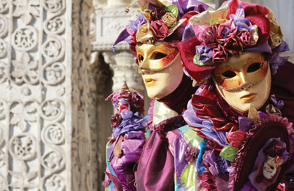 Jesters During Carnival in Venice, Italy